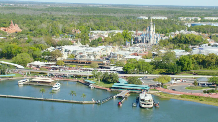 Magic Kingdom Aerial Walt Disney World