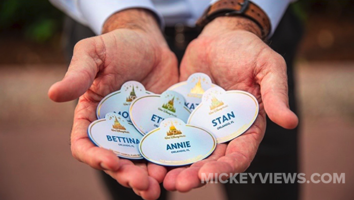 Walt Disney World 50th Anniversary Cast Member Name Tag